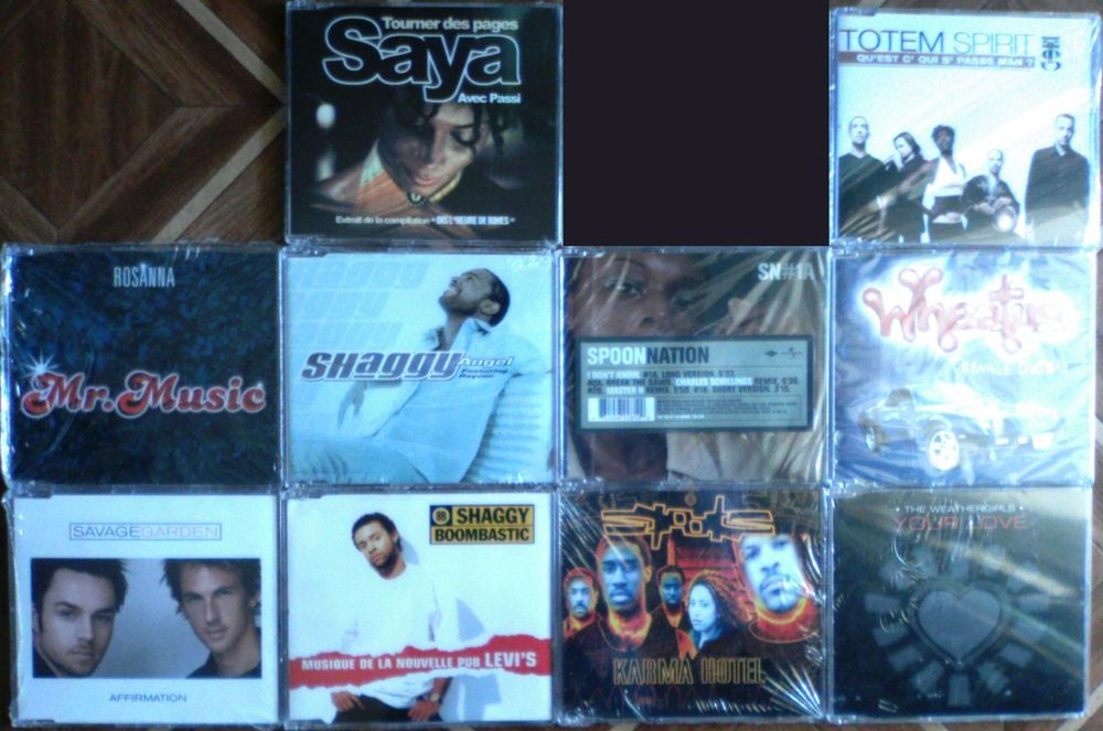 MaxiCD Rosanna,Savage Garden,Saya,Shaggy,Spoon Nation, Spots CD et vinyles