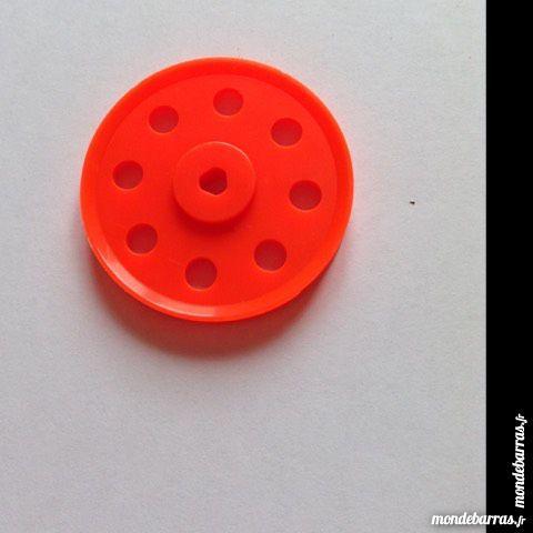 Meccano , lot de 6 poulies 38 mm plastiques orange 3 Montereau-Fault-Yonne (77)