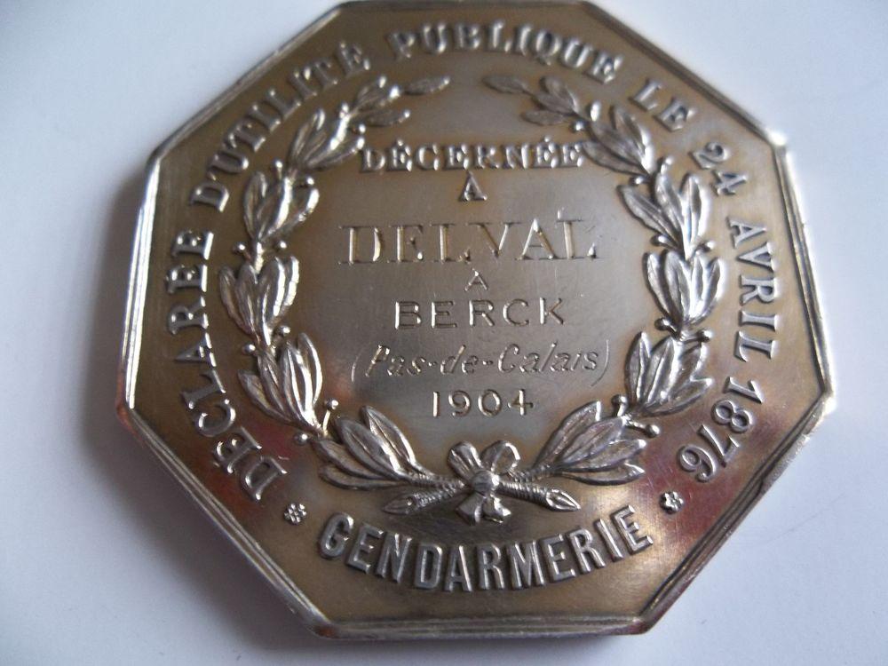 médaille braconnage  0 Haillicourt (62)