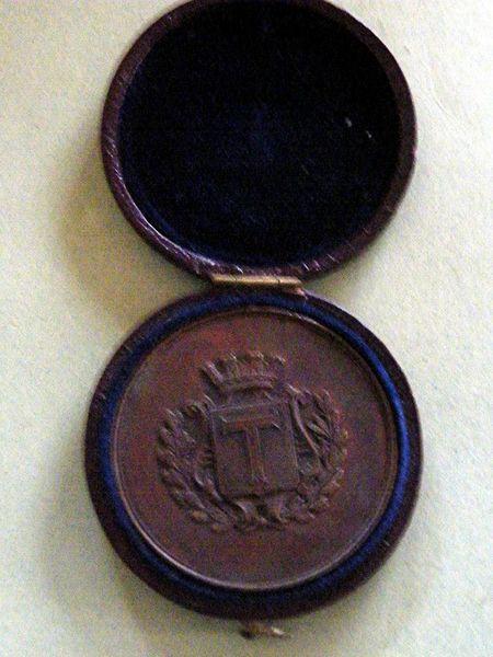 Medaille en bronze du Comice agricole de l'adt de Toul  20 Viriat (01)
