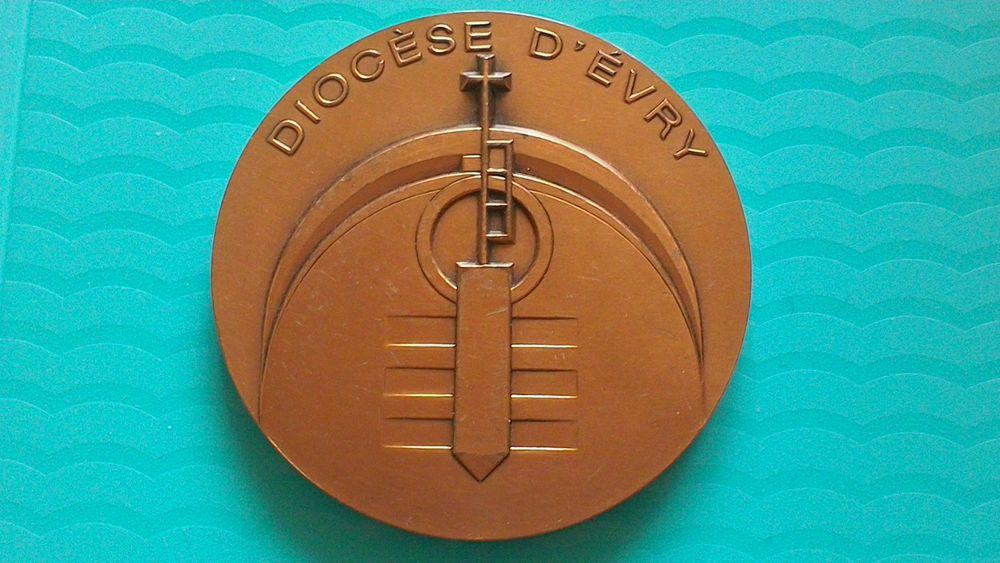 Médaille bronze Diocèse d'Evry 40 Vitry-sur-Seine (94)