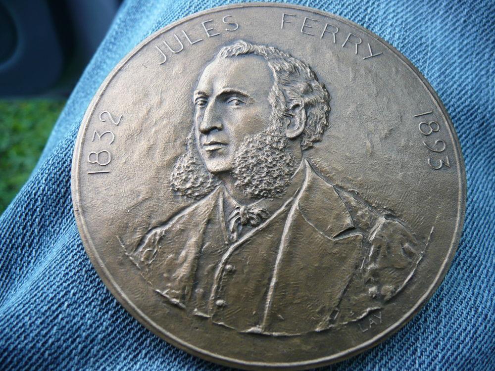 Médaille bronze Jules Ferry 1832-1893 37 Bordeaux (33)