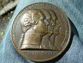 Médaille bronze Washinston De Grasse-Tilly (Rare) 135 Bordeaux (33)