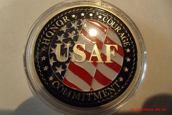 Médaille de collection USAF AIR FORCE F 35 10 Le Luc (83)