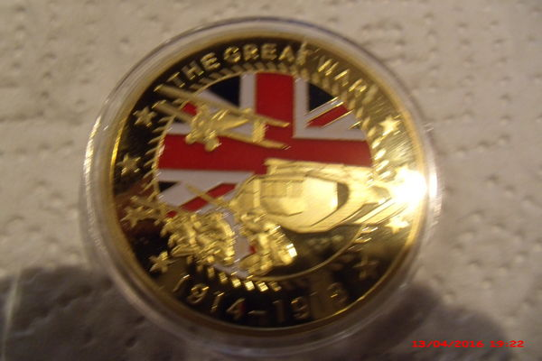 Médaille commémorative britannique 1914 /1918 11 Le Luc (83)