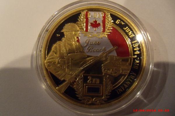 Médaille commémorative canadienne du débarquement 14 Le Luc (83)