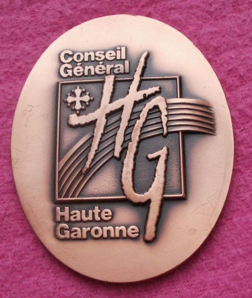Médaille Conseil Gal Haute  Garonne, bicentenaire Revolution 8 Montauban (82)