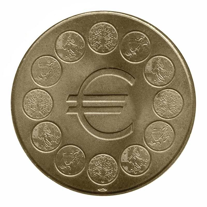 Médaille MDP - Euro 12 pièces de monnaies 40 Houdemont (54)