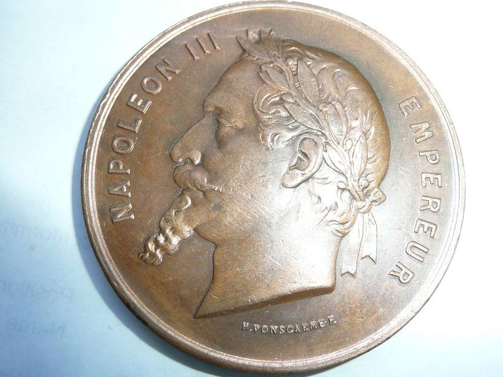 Médaille Exposition Universelle en cuivre Napoléon 53 Bordeaux (33)