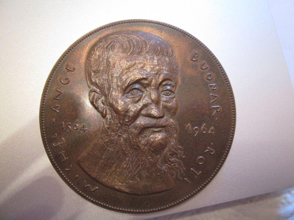 Médaille Michel Ange bronze 60 Herblay (95)