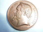 Médaille Napoléon III Tête Laurée Société Agricole 48 Bordeaux (33)