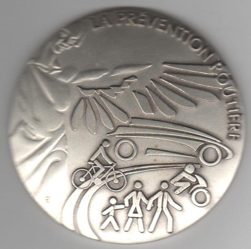Médaille    La Prévention Routière   25 Caumont (09)