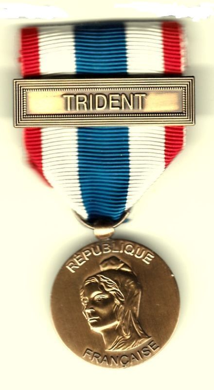 MÉDAILLE   PROTECTION DU TERRITOIRE AGRAFE TRIDENT  16 Doullens (80)