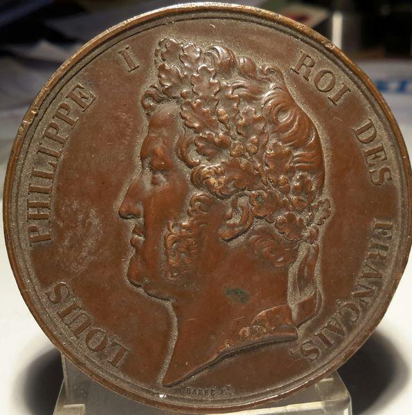 Médaille de table ou jeton Louis Philippe 1836 90 Saint-Germain (10)