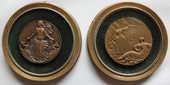 Médailles bronze Paquebot Transatlantique French Line 1950 150 Issy-les-Moulineaux (92)