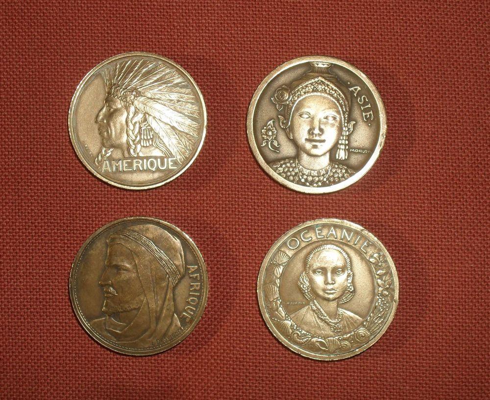 4 Médailles Exposition coloniale internationale de Paris 193