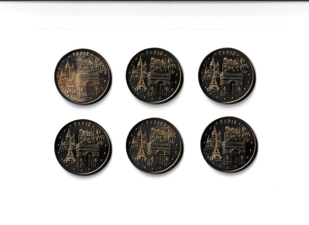 MDP Lot 6 médailles monuments de Paris 0 Houdemont (54)