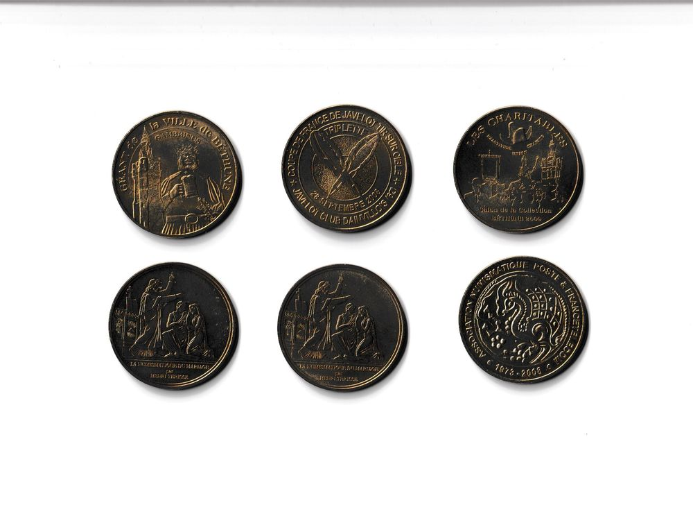 MDP Lot 6 médailles NumisAisne Paris 0 Houdemont (54)