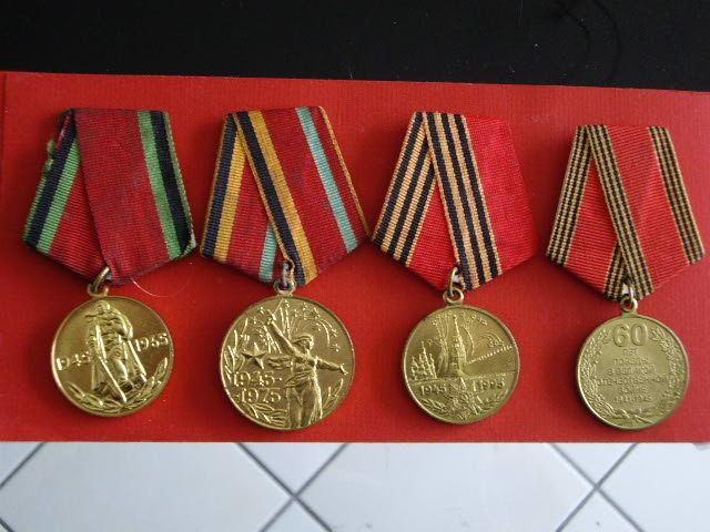 Lot  4 médailles URSS et Russie anniversaire de la victoire 33 Terssac (81)