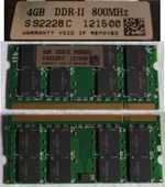 Mémoire RAM DDR2 4 GB 800 pour PC portable 80 Toulon (83)