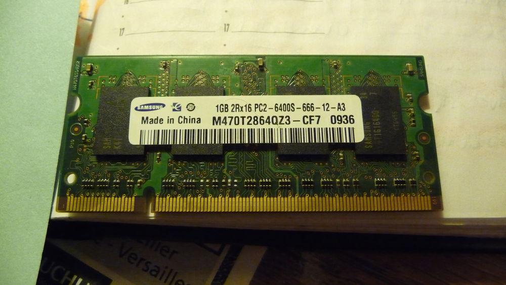 MEMOIRE RAM DDR2 1 GO POUR NOTEBOOK OU PC PORTABLE 15 Uxem (59)