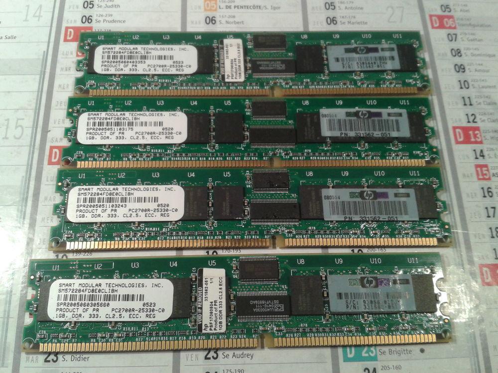 4 mémoire smart modular pc2700 1gb ecc 20 Mouthiers-sur-Boëme (16)
