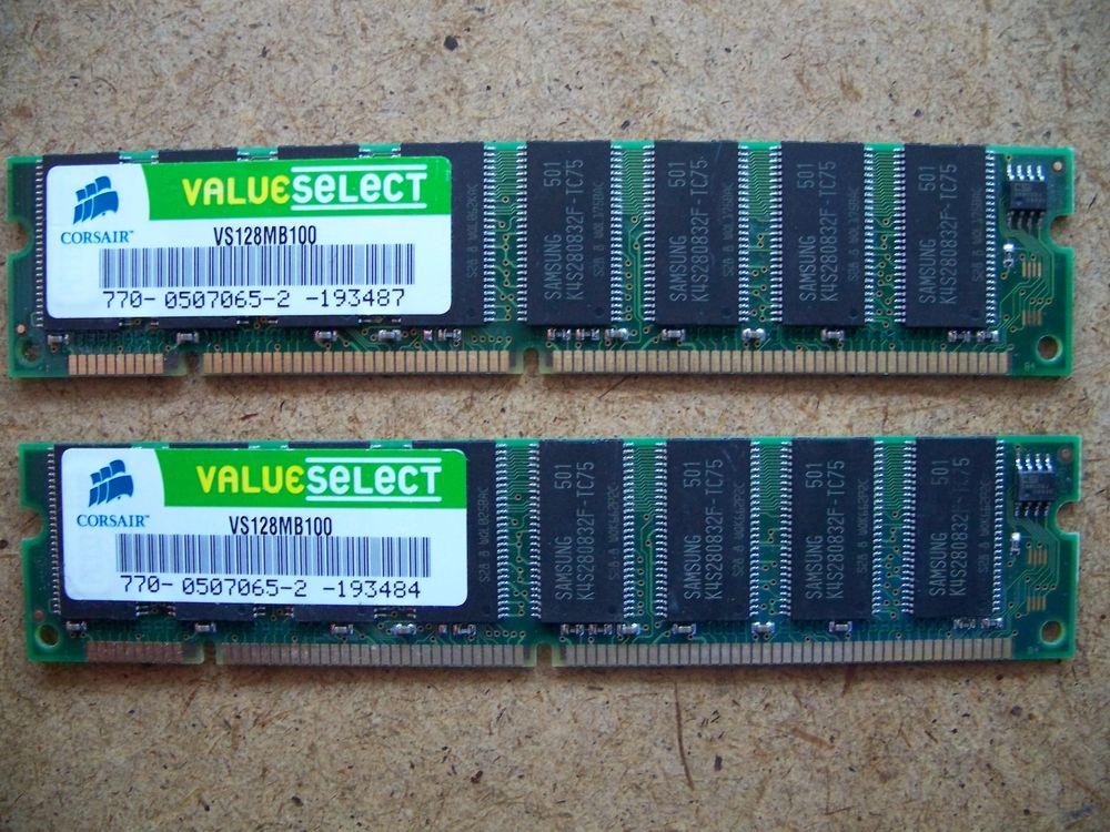 2 Mémoires CORSAIR DDR1 10 Gap (05)