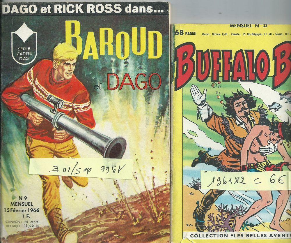 2 BD , mensuel baroud et dago 1966 et buffalo bill 1961 6 Tours (37)