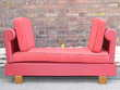 MERIDIENNE VINTAGE BANQUETTE RETRO FAUTEUIL ANNEES 50 60 SKAIE ROUGE Dunkerque (59)