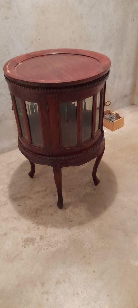 Meuble ou armoire à thé rond en bois d'acajou avec plateau 280 Lyon 4 (69)