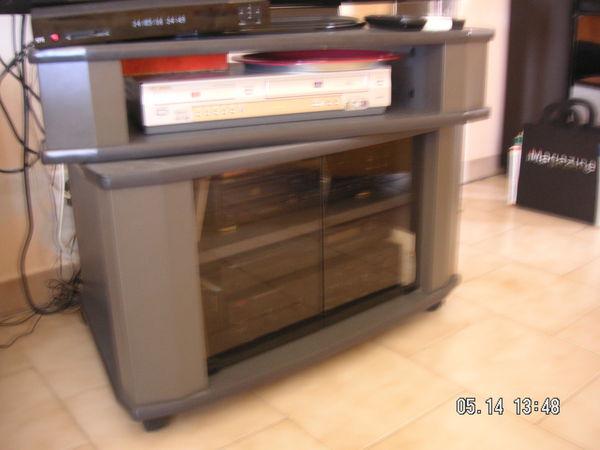 Achetez meuble tv avec occasion annonce vente saint for Meuble tv plateau pivotant