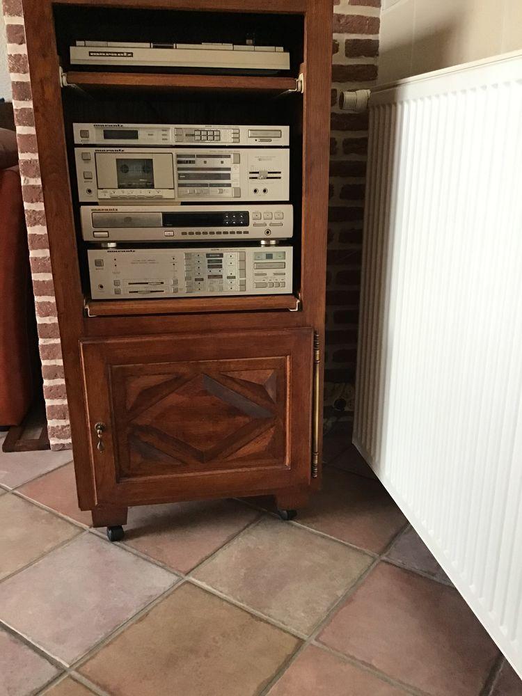 meuble hi-fi en bois avec chaîne hi-fi complète 370 Moreuil (80)