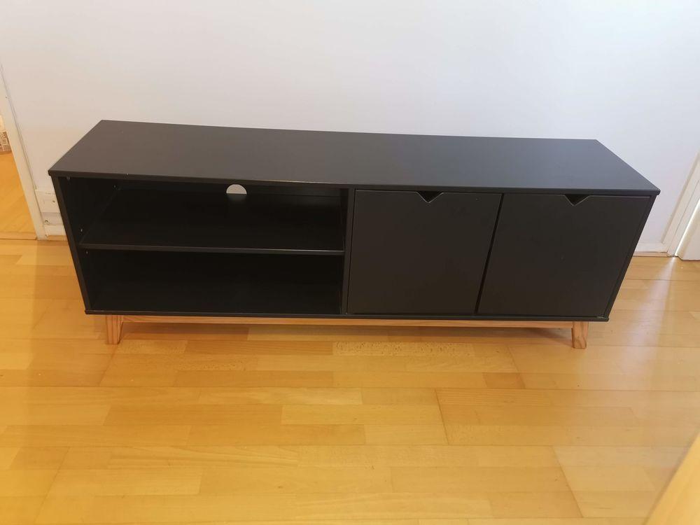 Meuble TV en bois avec 4 compartiments de rangement 50 Asnières-sur-Seine (92)