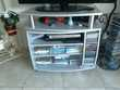Meuble TV bois gris