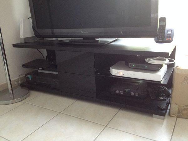 Achetez meuble tv en bois quasi neuf annonce vente - Meuble en bois noir ...