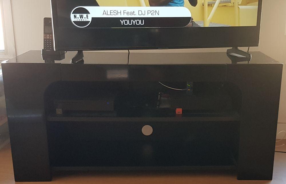 Meuble TV Bois Noir 80 Anglet (64)