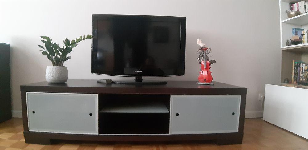 Meuble TV Calligaris Wenge & verre trempé 150 Paris 20 (75)
