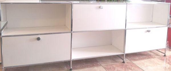 meuble 6 cases 3 portes abattantes usm haller blan 1840 Chenoise (77)