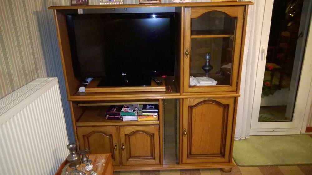 Meuble TV en chêne massif 80 Tergnier (02)