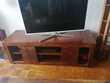 Meuble bas TV couleur bois d 'ébène