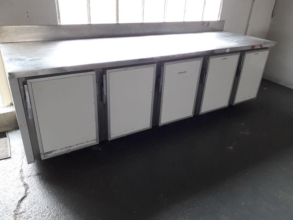 Meuble de cuisine pro 5 compartiment froid avec plateau inox 700 Brinay (18)