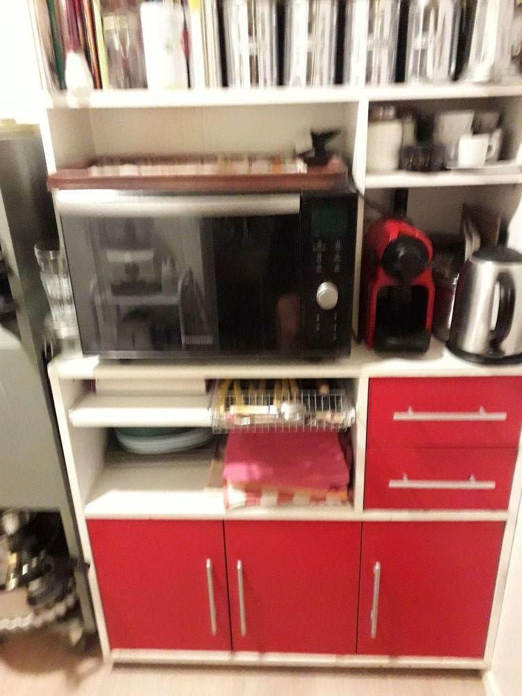 Meuble de cuisine  haut rouge et blanc 90 Paris 1 (75)