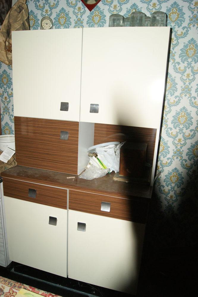 meuble de cuisine vintage formica marron et blanc 20 Annoisin-Chatelans (38)