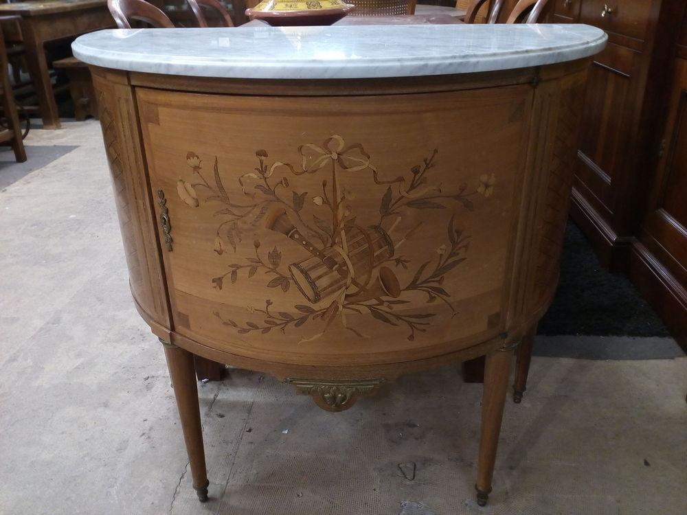 Meuble demi-lunes marqueté style Louis XVI 290 Toulouse (31)
