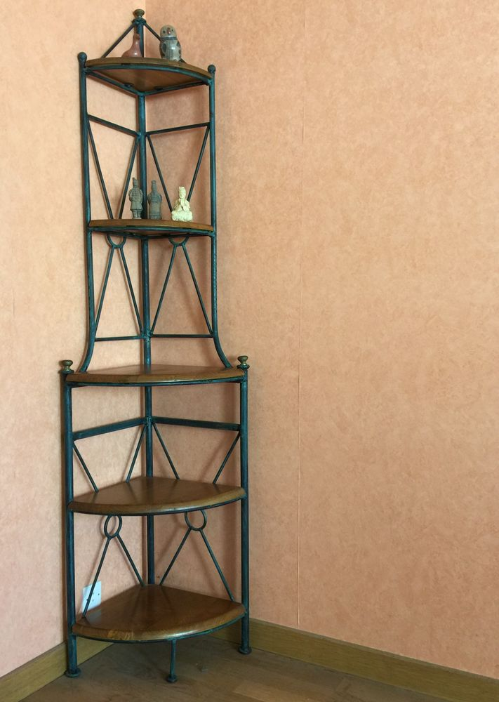Meuble étagére  d'angle métal et chêne  60 Rennes (35)
