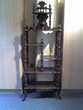 Meuble étagère Napoléon III Ht 1.60 m en sapin teinté noyer Gries (67)