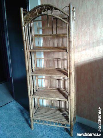 Meuble étagères en rotin 10 Clichy (92)