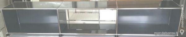 Meuble bas gris anthracite usm haller 3 niches 695 Chenoise (77)