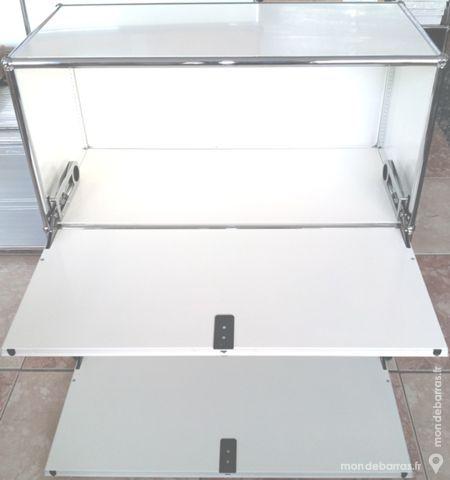 meuble usm haller blanc avec 2 portes abattantes 750 Chenoise (77)
