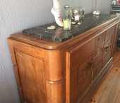 meuble haut en bois massif et marbre  60 Calais (62)